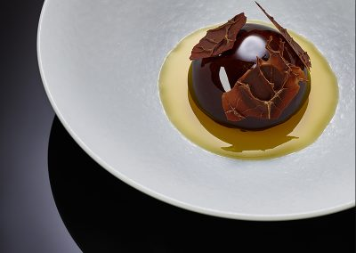 Chocolate, hazelnut, passion fruits, vanilla