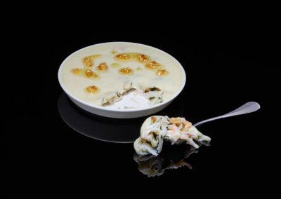 Kamchatka Crab Salad with Hazelnuts